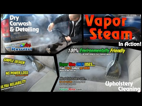 NEW! Vapor Rino 145 PSI (3 in 1) Now - Extractor Mode! Vapor Rino, Mobile Dry Carwash Auto Detailing