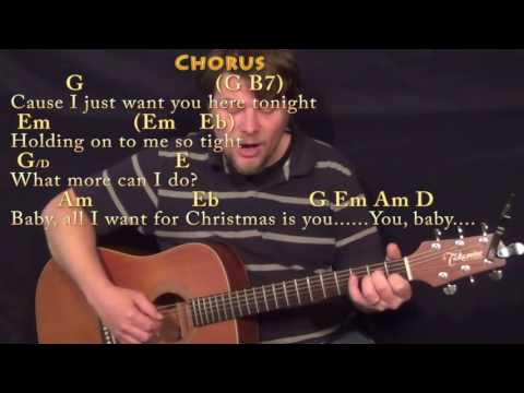 All I Want For Christmas Is You (Mariah Carey) Fingerstyle Guitar Cover Lesson with Chords/Lyrics