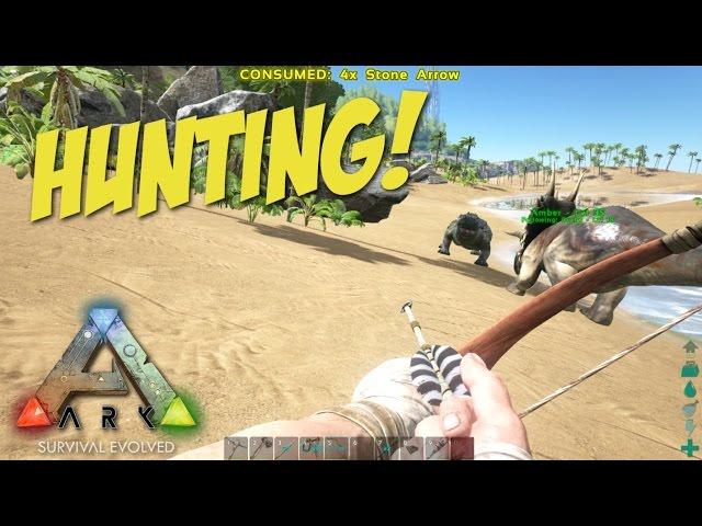 Ark Survival Evolved: Part 4 - HUNTING GIANT ALLIGATORS!