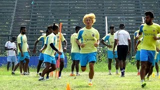Japanese Katsumi Yusa hogged the limelight during East Bengal train...