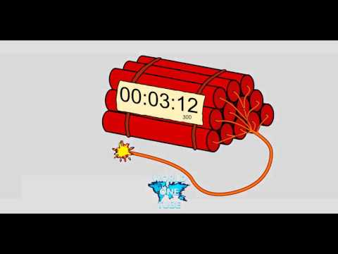 Countdown dynamite timer 5 MINUTES