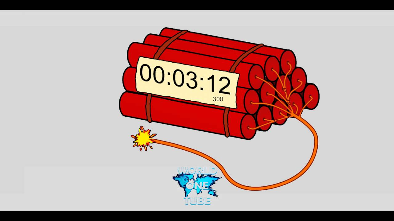 countdown dynamite timer 5 minutes youtube
