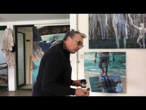 Artist Euan Macleod talks with Maria Stoljar in his studio