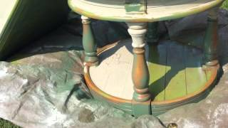Crackle Paint End Tables