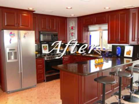US Cabinet Refacing Kitchen Cabinet Gallery  YouTube