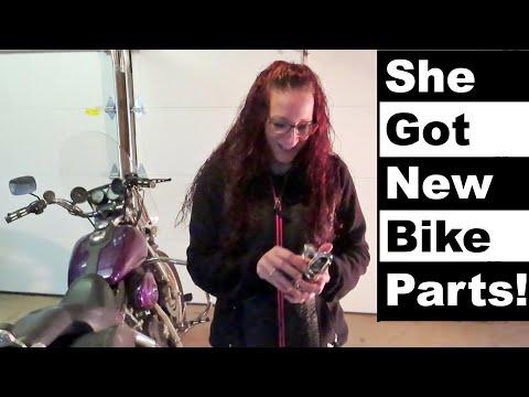 She Got New Bike Parts! | Arlen Ness Deep Cut Mirrrors
