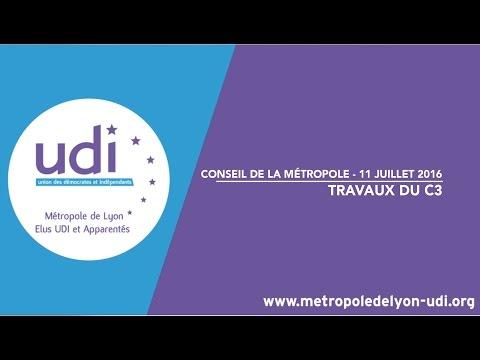 Intervention de Laurence Croizier sur les travaux du C3 - Conseil de la Métropole du 11 juillet