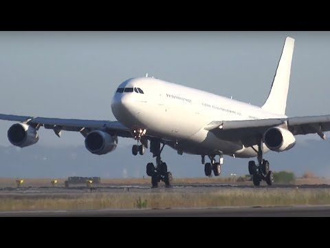 Airbus A340-300  HiFly landing