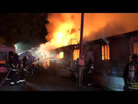 Man in wheelchair dies, 2 injured in Bonney Lake mobile home fire