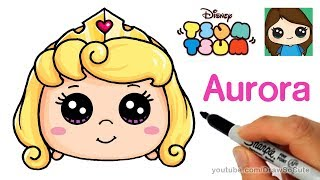 How to Draw Aurora Sleeping Beauty | Disney Tsum Tsum