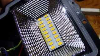 Доработка светодиодного прожектора Эра 10 Ватт - уменьшаем пульсации.(Интересные товары на..., 2015-01-03T11:47:29.000Z)