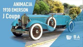 1930 Emerson Model J Coupe | BA ARCHITEKTURA | Animacja 3D | Animation 3D