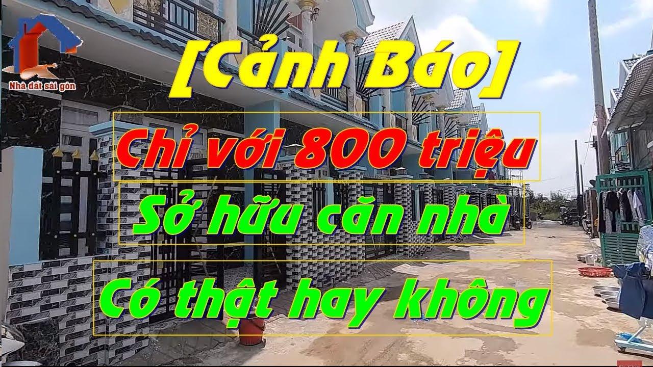 Bán Nhà Bình Chánh – Chỉ Với  800 Triệu Sở Hữu Căn Nhà 5x17m – Sổ Hồng Riêng