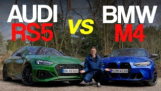 BMW M4 vs Audi RS5 Coupé comparison review - RWD vs AWD!