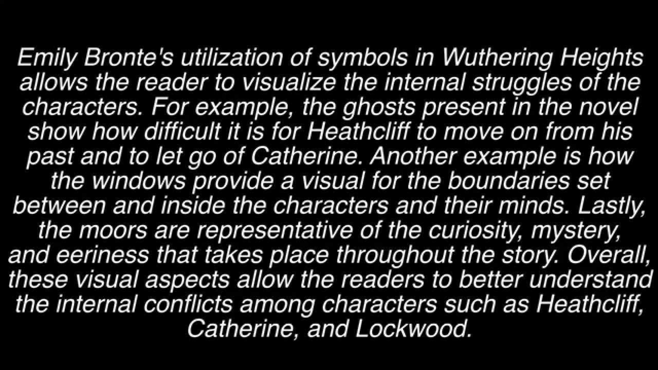 research paper on symbolism in wuthering heights