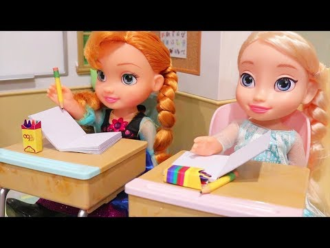 Elsa & Anna Toddlers at School - The New Class President - Our Generation and Disney Toys and Dolls