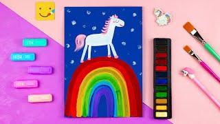 Как нарисовать ПОНИ на РАДУГЕ. Урок рисования для детей от 4 лет.