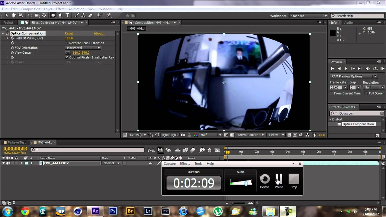 Fish eye lens effect in after effects youtube for Fish eye effect