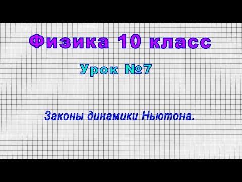 Физика 10 класс динамика видеоурок