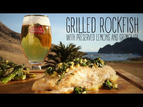 Grilled Rockfish With Preserved Lemons And Gremolata