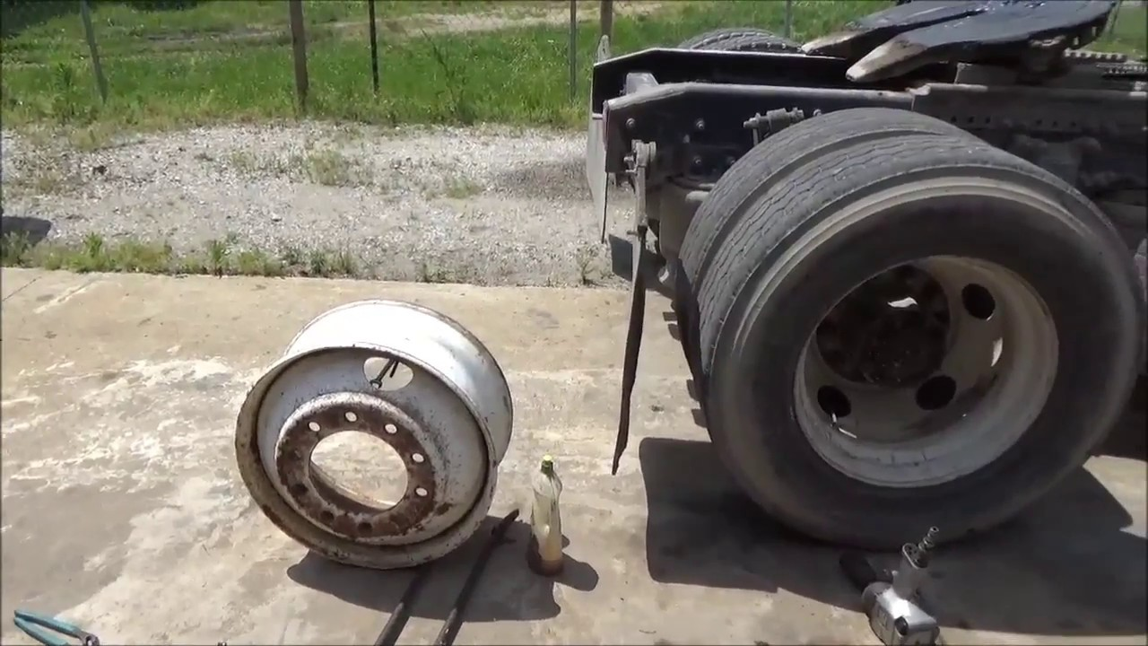 Big Truck Tires >> Changing Tires On My Big Truck At Home Part 1 June 3 2017