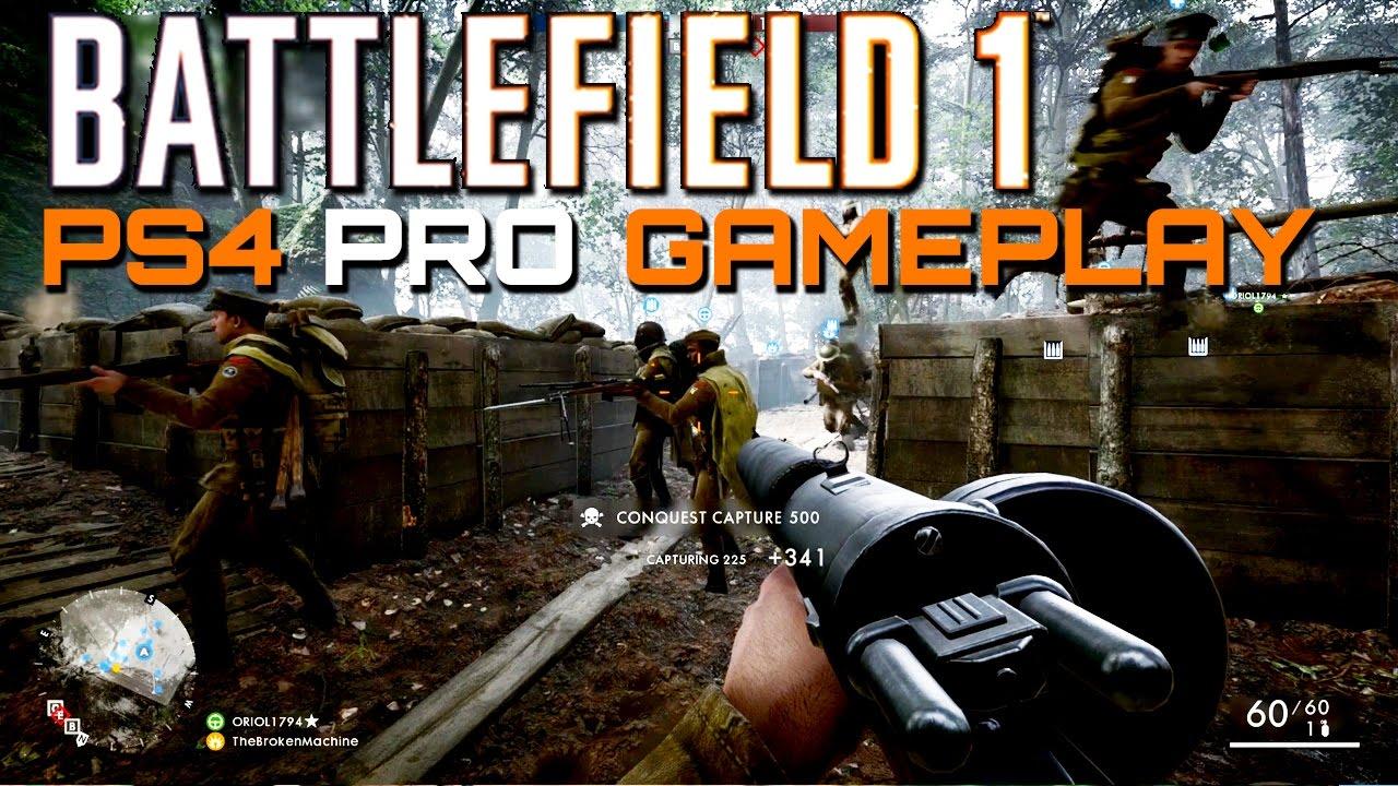 battlefield 1 58 kills ps4 pro multiplayer gameplay. Black Bedroom Furniture Sets. Home Design Ideas
