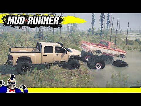 Monster Trucks in the Mud | Mudrunner |