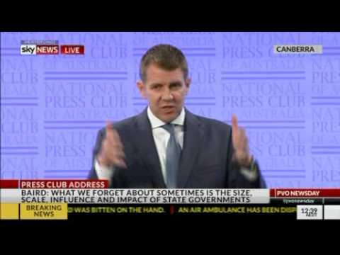 NSW Premier Mike Baird National Press Club address