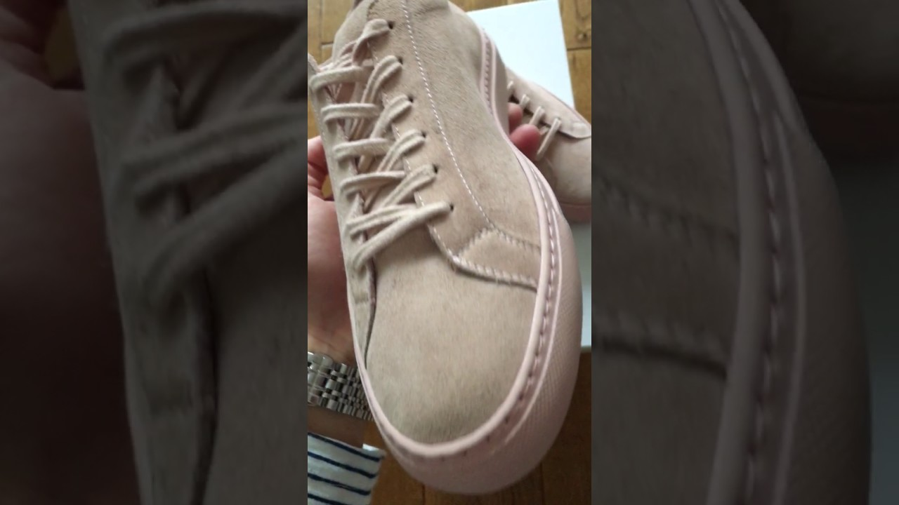 ca2b38f2c87f Common Projects Original Achilles Low Suede (Pink Blush) - YouTube