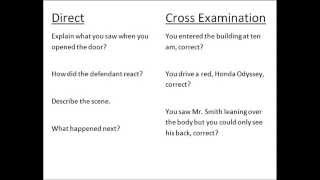 Direct vs Cross Examination Questions