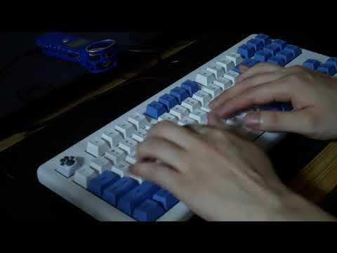 【ASMR】 한성 TFG ART(한고무) 아트박스 흑축 + 체리프로파일 원조뗑컨 키캡 타건영상 (Hansung TFG ART Typing Sound ARTBOX Black)