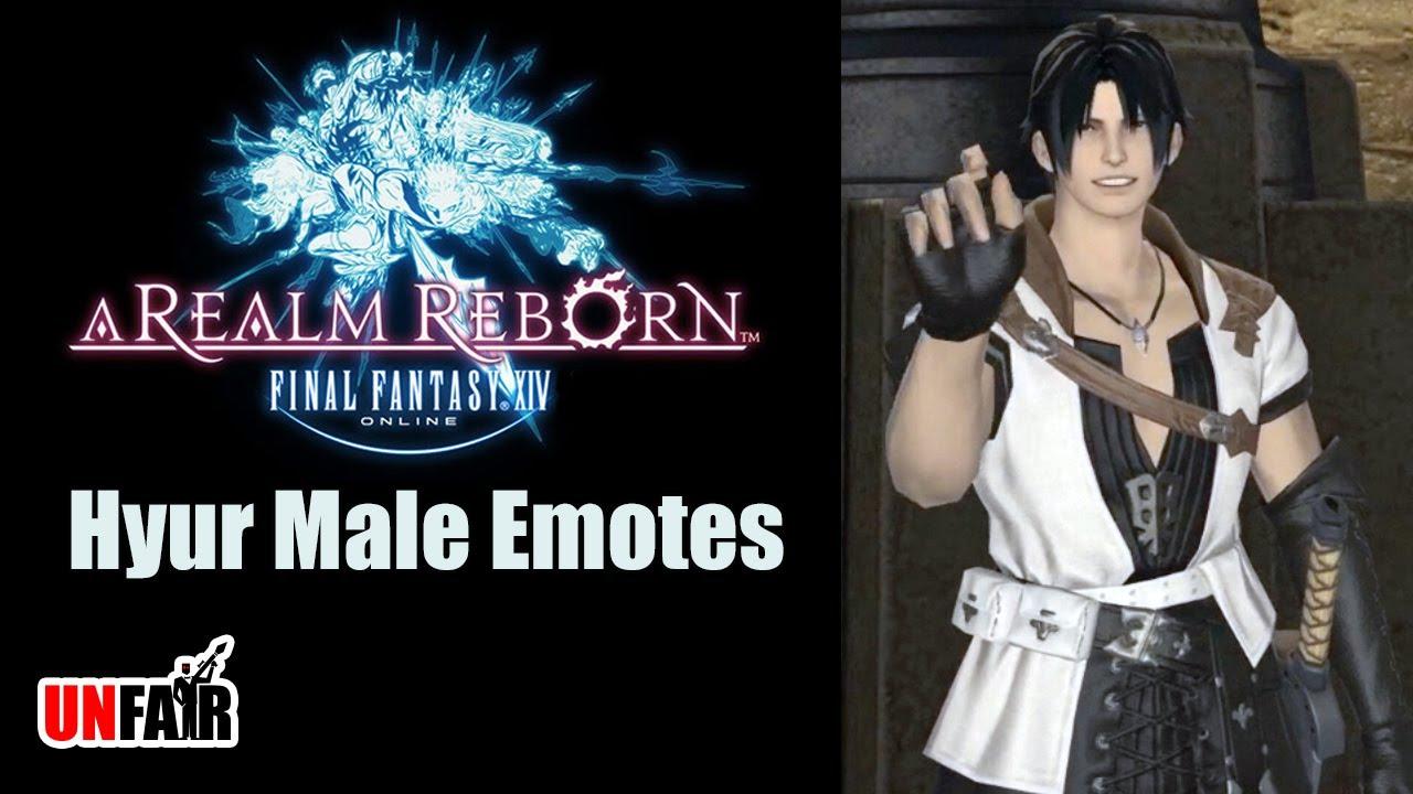 FFXIV A Realm Reborn Hyur Male Emotes YouTube