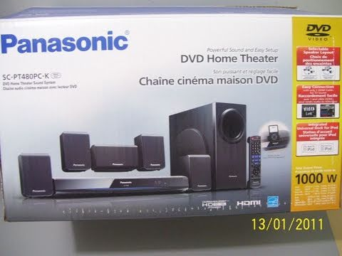 panasonic sc pt480pc k dvd home theater unboxing youtube. Black Bedroom Furniture Sets. Home Design Ideas