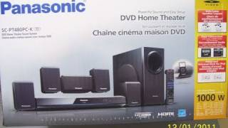Panasonic SC-PT480PC-K DVD Home Theater - Unboxing