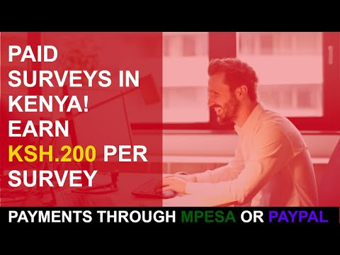 Make Money Online In kenya Through Paid Surveys 2020( Payments Mpesa And Paypal)