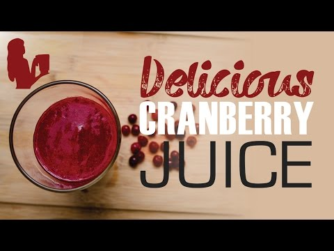 A Delicious Cranberry Juice & Recipe for UTI by Blender Babes