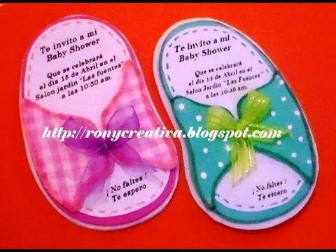 Cómo Hacer Invitación De Sandalia Para Baby Shower Huarachito Diy Ronycreativa