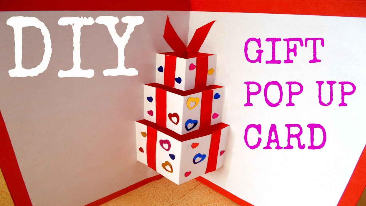 DIY Gift Pop Up Card
