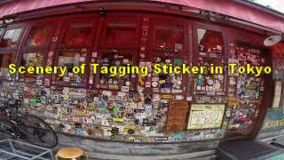 #3548  Scenery of Tagging Sticker in Tokyo ④ ~ タギングステッカー(ステッカー・グラフィティ)in 東京 thumbnail