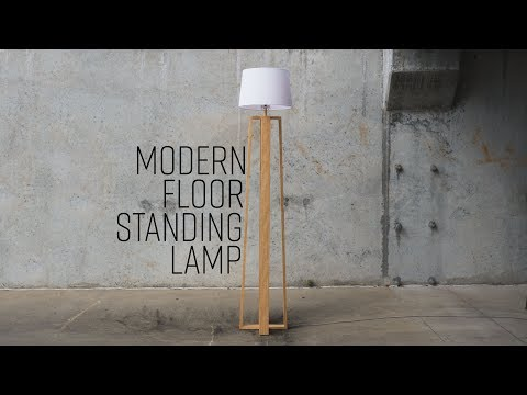 DIY Modern Floor Standing Lamp | Free Plans