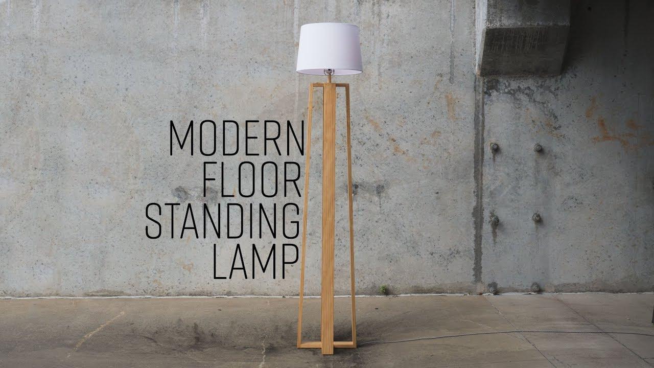 DIY Modern Floor Standing Lamp   Free Plans - YouTube
