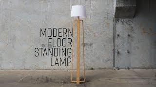 DIY Modern Floor Standing Lamp | Free Plans