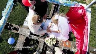 Экстремальная свадьба на вышке высотой 215 метров!