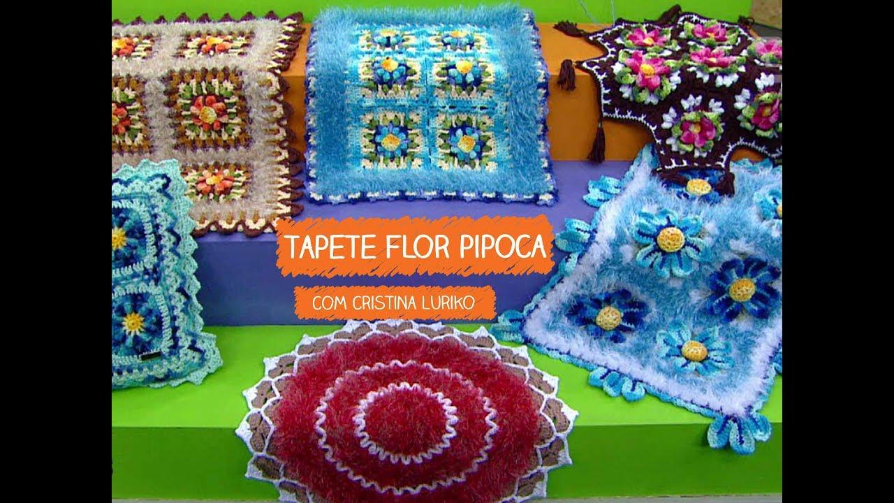 Organizador Armario Limpieza Ikea ~ Tapete Flor Pipoca com Cristina Luriko Vitrine do Artesanato na TV TV Gazeta YouTube