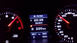 Audi A4 B8 1.8T MTM chipped 215PS 0-190 km/h Acceleration
