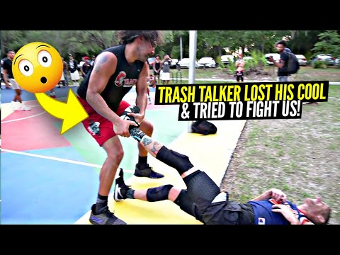 Download Trash Talker Dragged Us Across THE PAVEMENT & Tried To Start a FIGHT!! Ballislife Squad HEATED 5v5!