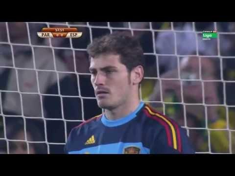 Iker Casillas Detiene Penalty- España vs Paraguay