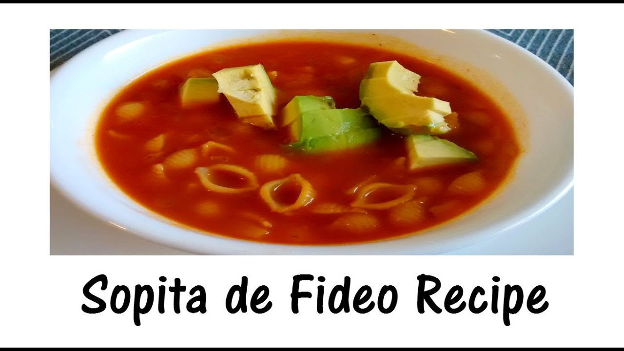 Simple Mexican Vegan Pasta Soup - Sopita de Fideo Recipe (English) - YouTube