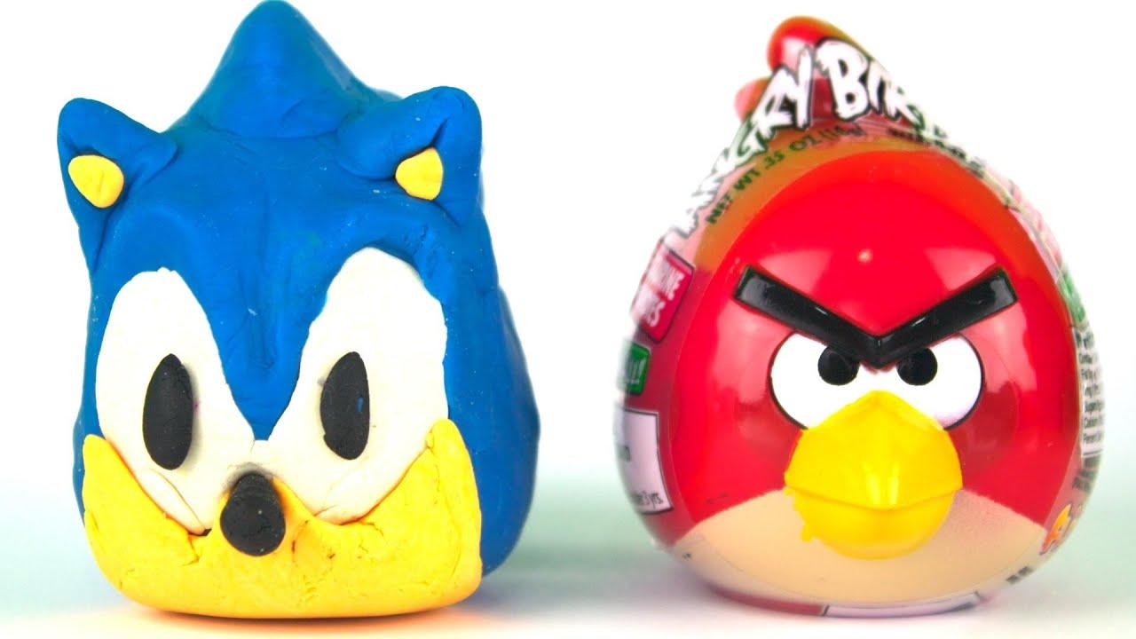 Play Doh Surprise Eggs SEGA Sonic The Hedgehog Jake Neverland ...