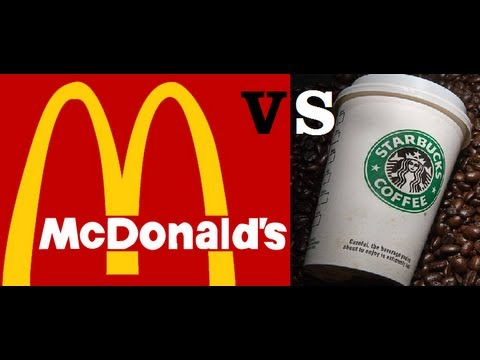 starbuck vs mcdonald We compared the amounts of caffeine and coffee prices at starbucks, dunkin' donuts and mcdonald's.